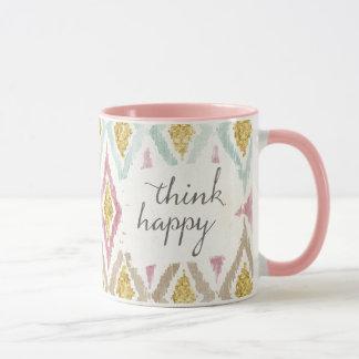 Caneca Deco macio V | pensa feliz