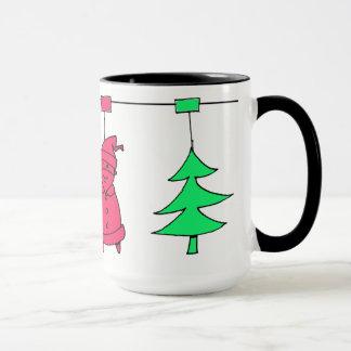 Caneca Decorações da árvore de Natal