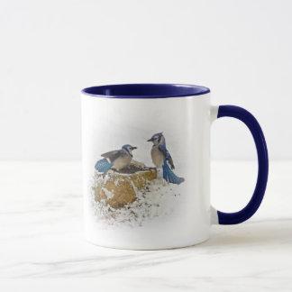 Caneca Desembarace - de pássaros de Jay azul