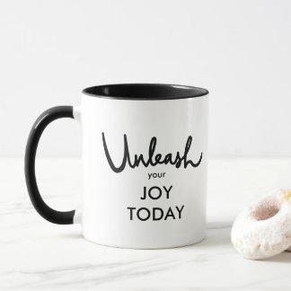 Caneca Desencadeie sua mão da alegria hoje   rotulada