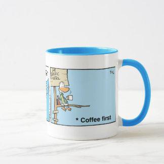 Caneca Desenhos animados do café de controlador aéreo