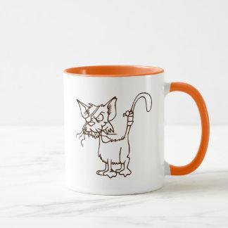 Caneca Desenhos animados resistentes do gatinho do gato