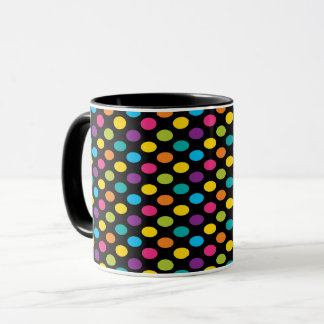 Caneca Design colorido 3 da forma na moda brilhante de