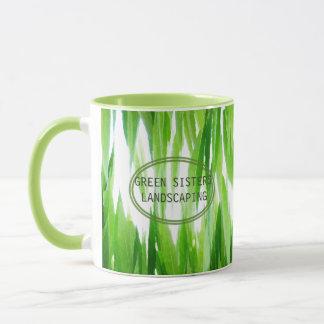 Caneca Design de negócio verde amigável da terra