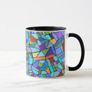 Caneca Design de vidro da mancha abstrata