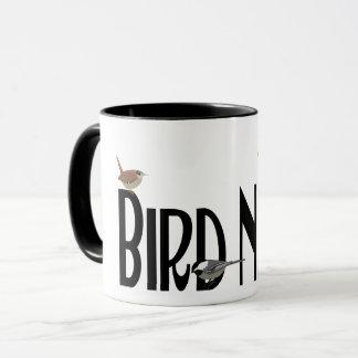 Caneca Design do nerd do pássaro