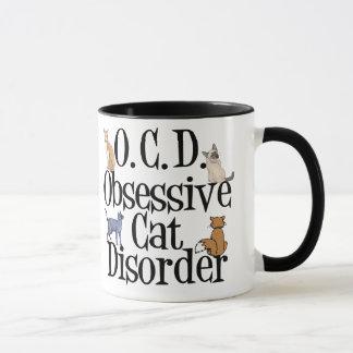 Caneca Desordem obsessiva do gato