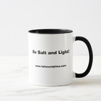 Caneca destro de sal e de luz