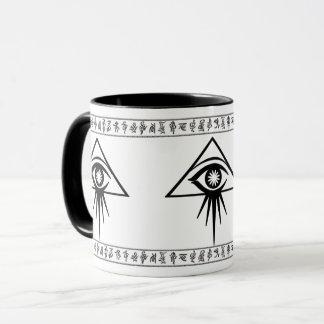 Caneca devista do olho do Aeon com os runes de Elo