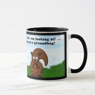 Caneca Dia de Groundhog feliz com humor engraçado do
