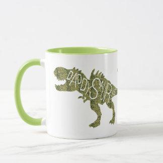 Caneca Dia dos pais - dinossauro verde de Daddysaurus