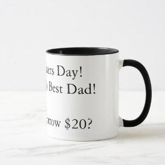 Caneca Dia dos pais feliz! ao melhor pai dos mundos! Oh,
