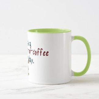 Caneca Dia múltiplo das chávenas de café