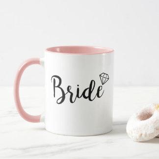 Caneca Diamante de Bling da noiva