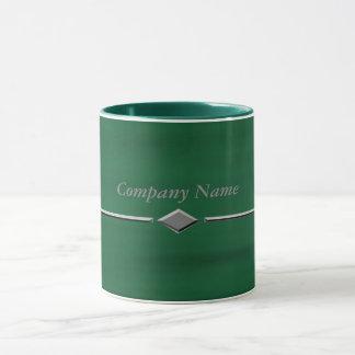 Caneca Diamante verde da água
