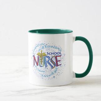 Caneca Divisa da enfermeira da escola