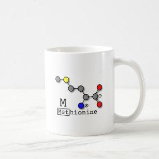 Caneca do ácido aminado da metionina