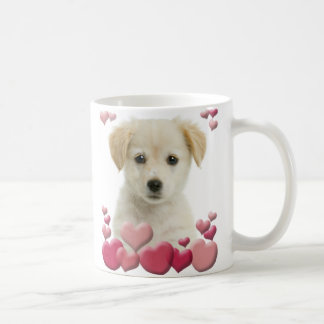Caneca do amor de filhote de cachorro
