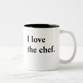 Caneca do amor do cozinheiro chefe