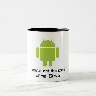 Caneca do Android: Você não é o chefe de mim,