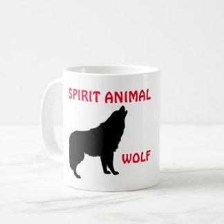 Caneca do animal do espírito do lobo