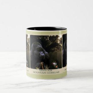 Caneca do Animal-suporte do gorila de montanha de