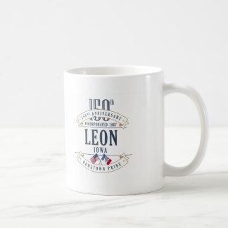 Caneca do aniversário de Leon, Iowa 150th