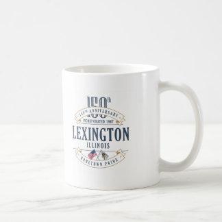 Caneca do aniversário de Lexington, Illinois 150th