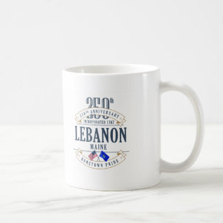 Caneca do aniversário de Líbano, Maine 250th