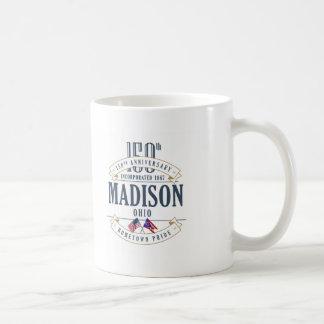 Caneca do aniversário de Madison, Ohio 150th