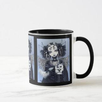 Caneca do anjo do gato persa de Elizabeth & de