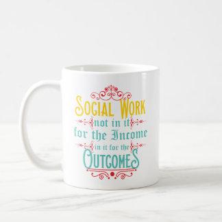 Caneca do assistente social - caneca de café do
