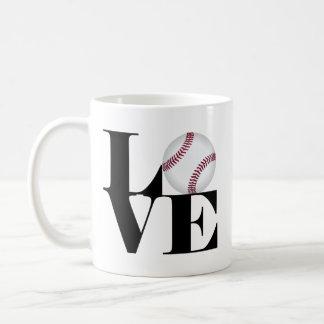 Caneca do basebol do amor