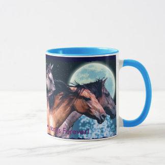Caneca do bebendo de 3 Cavalo-Amantes espanhóis