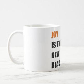 caneca do branco das citações da alegria