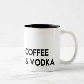 Caneca do café & da vodca, presente engraçado, por