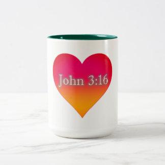 Caneca do café do 3:16 de John