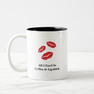 Caneca do café & do batom