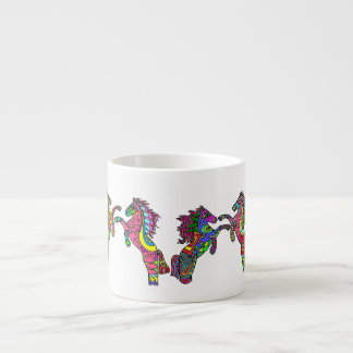 Caneca do café dos pôneis       6 do caleidoscópio caneca de café