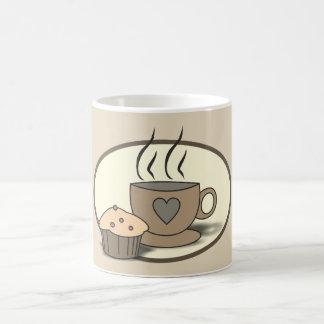 Caneca do café e do muffin para amantes do café