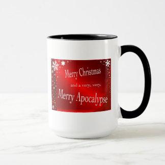 """Caneca Do """"caneca Feliz Natal e do apocalipse"""""""