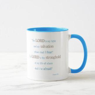 """Caneca Do """"caneca inspirada do 27:1 salmo"""" das bênçãos"""