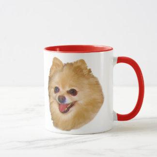 Caneca do cão de Pomeranian