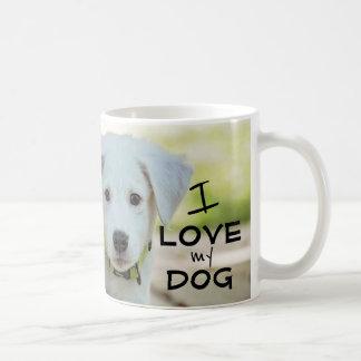Caneca do cão, eu amo meu mestre