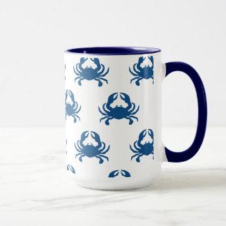 Caneca do caranguejo azul