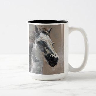 Caneca do cavalo branco