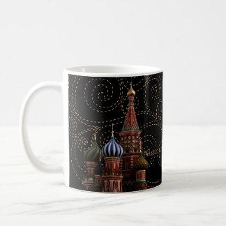 Caneca do chá do café da catedral da manjericão do