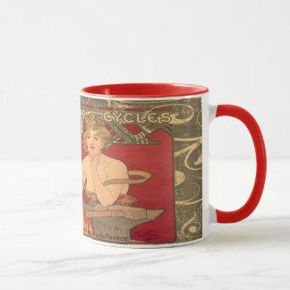 Caneca do chá do café de Alphons Mucha do vintage