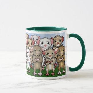 Caneca do chá do café do grupo do rato