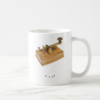 Caneca do chá do código Morse